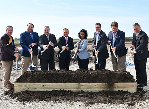 C and B groundbreaking